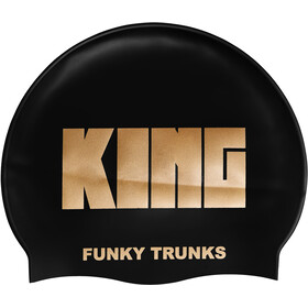 Funky Trunks Silicone Swimming Cap Mężczyźni, crown jewels